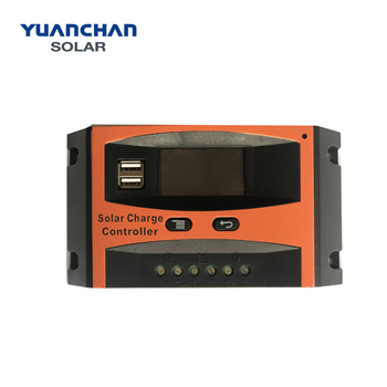 YuanChan  Factory Price Best Sale PWM 12V/24V 10A LCD Solar Charge Controller With USB