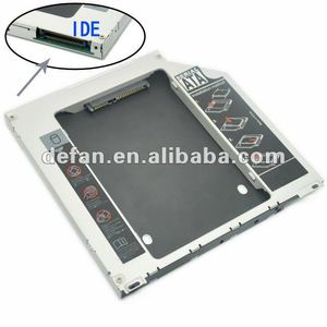 Wholesale notebook 9.5mm IDE to SATA HDD caddy/case/enclosure for mac