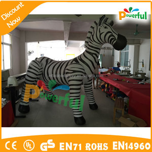PVC durable inflatable advertising zebra decoration outdoor inflatable model