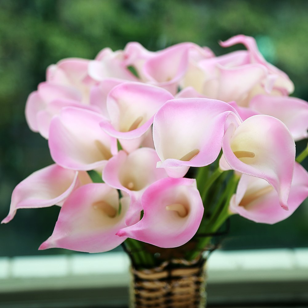 Cheap fake calla lily flowers find fake calla lily flowers deals on decoration flowers mini size pu calla lily artificial flowers for wedding home izmirmasajfo Image collections