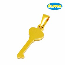 Hot sale product silver gold key charm of success pendant for necklace