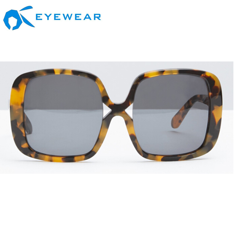 2017 High Quality Custom Polarized Tortoise Shell Sunglasses Gafas de sol