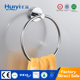 Unique design hot selling brass metal ceramic small towel ring for bathroom HY-08103