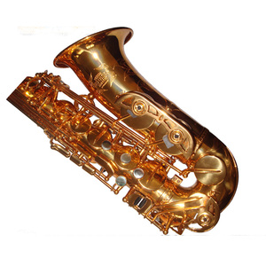 Tide music gold lacqquer alto saxophone alto sax like Reference 54 comes with case mouthpiece reeds
