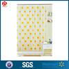 Disposable Printed Plastic Shower Curtains with hook