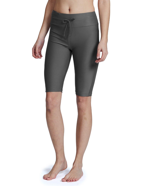 5fe8a4440c Baleaf Women's Long Board Shorts High Waisted Swim Shorts Sun Protection Bikini  Bottom