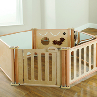 Wholesale Daycare Furniture Wooden Baby Playpen With Door