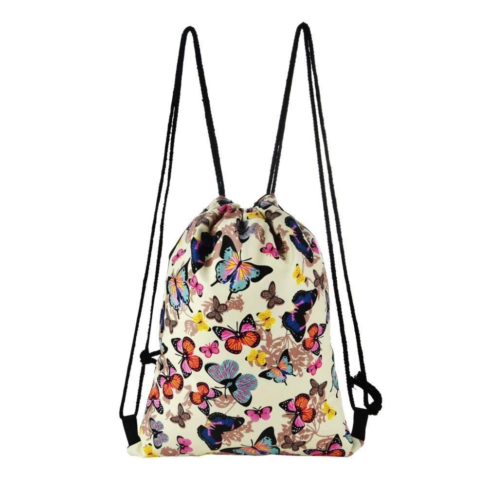 e38c4e0c2e Get Quotations · BuyEverything Drawstring Backpack Sport Gym Bags -  Colorful Floral Fashion Gift Candy Drawstring Bags Pouch