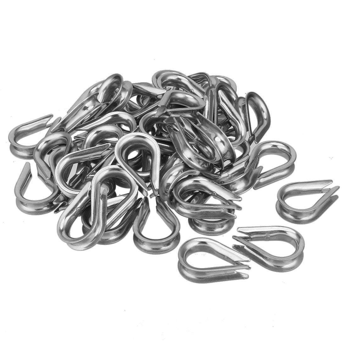 uxcell 304 Stainless Steel Thimble for Diameter Wire Rope 10pcs