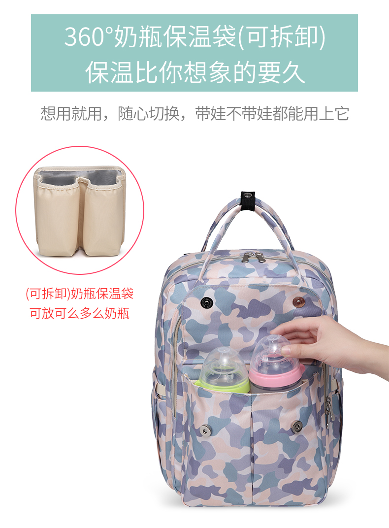 Large capacity backpack diaper bag waterproof baby bag diaper backpack outdoor for travel baby backpack diaper bag