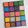 20 Colors Ink Pad Scrapbooking 4x4cm Inkpad Stamp Sealing Decoration Fingerprint Stencil Card Making DIY Crafts