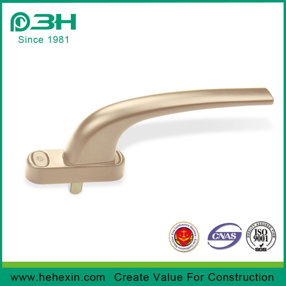 Zinc alloy UPVC Window handle Stainless steel  Square Spindle