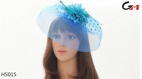 new style ladies elegant mesh hair clip party celebration banquet hair accessories mini hat