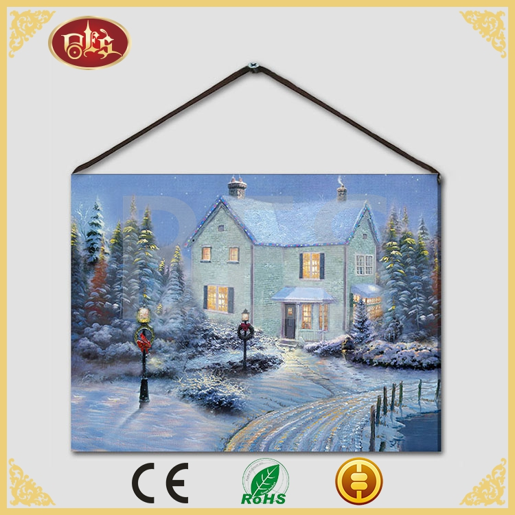 china supplier realistic snow landscape oil painting