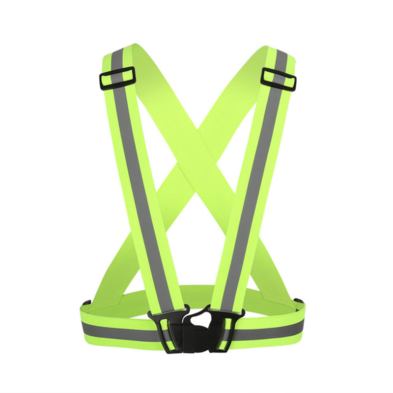 Reflective safety vest strips for construction traffic warehouse