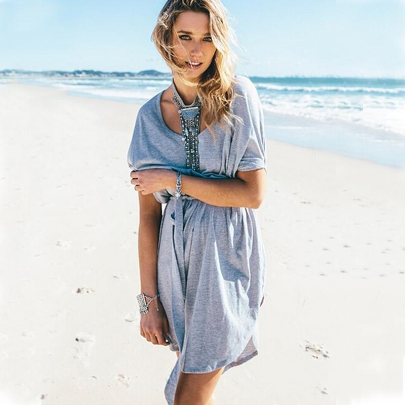 Get Quotations 2017 New Summer Style Casual Dress Loose Women Beach Wear Vestidos Bandage Dresses Plus