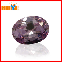 Lab created Lavender cubic zircon stone