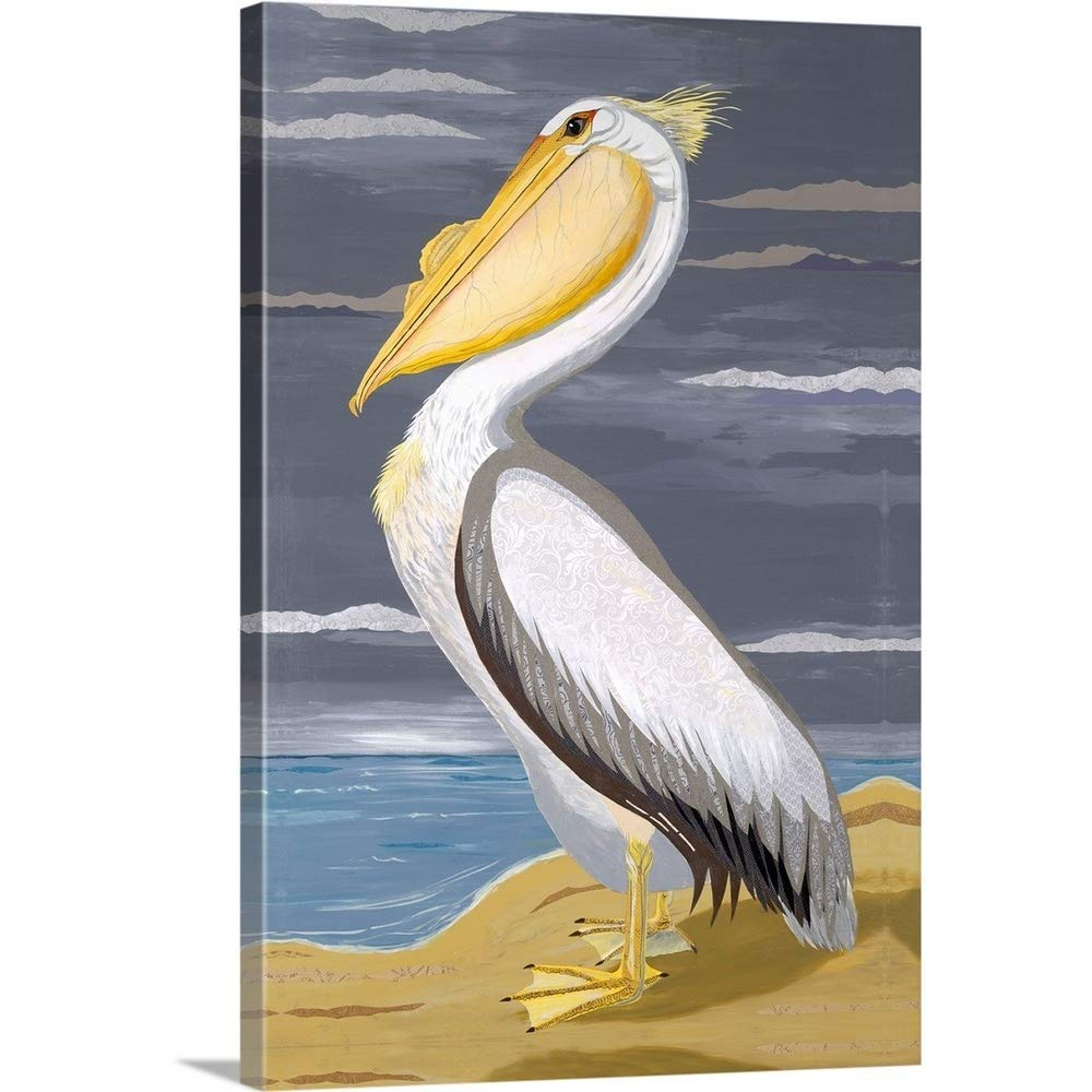 """Gallery-Wrapped Canvas Entitled White Pelican by Jennifer Peck 16""""x24"""""""