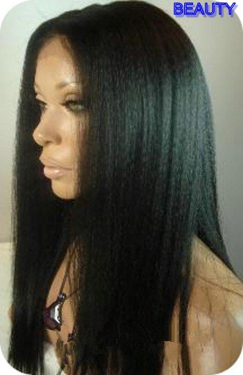 "Sale 20"" #1b Black Heavy Yaki Straight 100% Indian Hair"