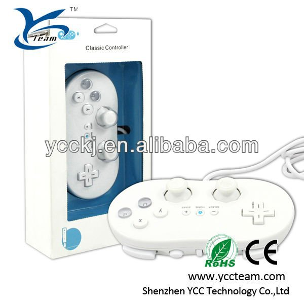 high quality grip style hot selling game classic controller for wii with direct factory price