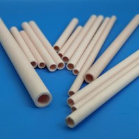 Refractory Industrial electrical insulation alumina ceramic tubes