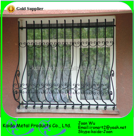 Cheap Wrought Iron Curved Window Grills Design
