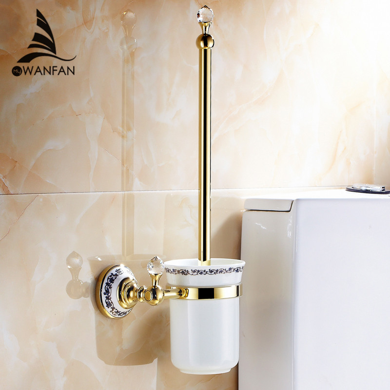 Crystal Bathroom Hardware: Free Shipping Wall Mounted Bathroom Accessories Brass