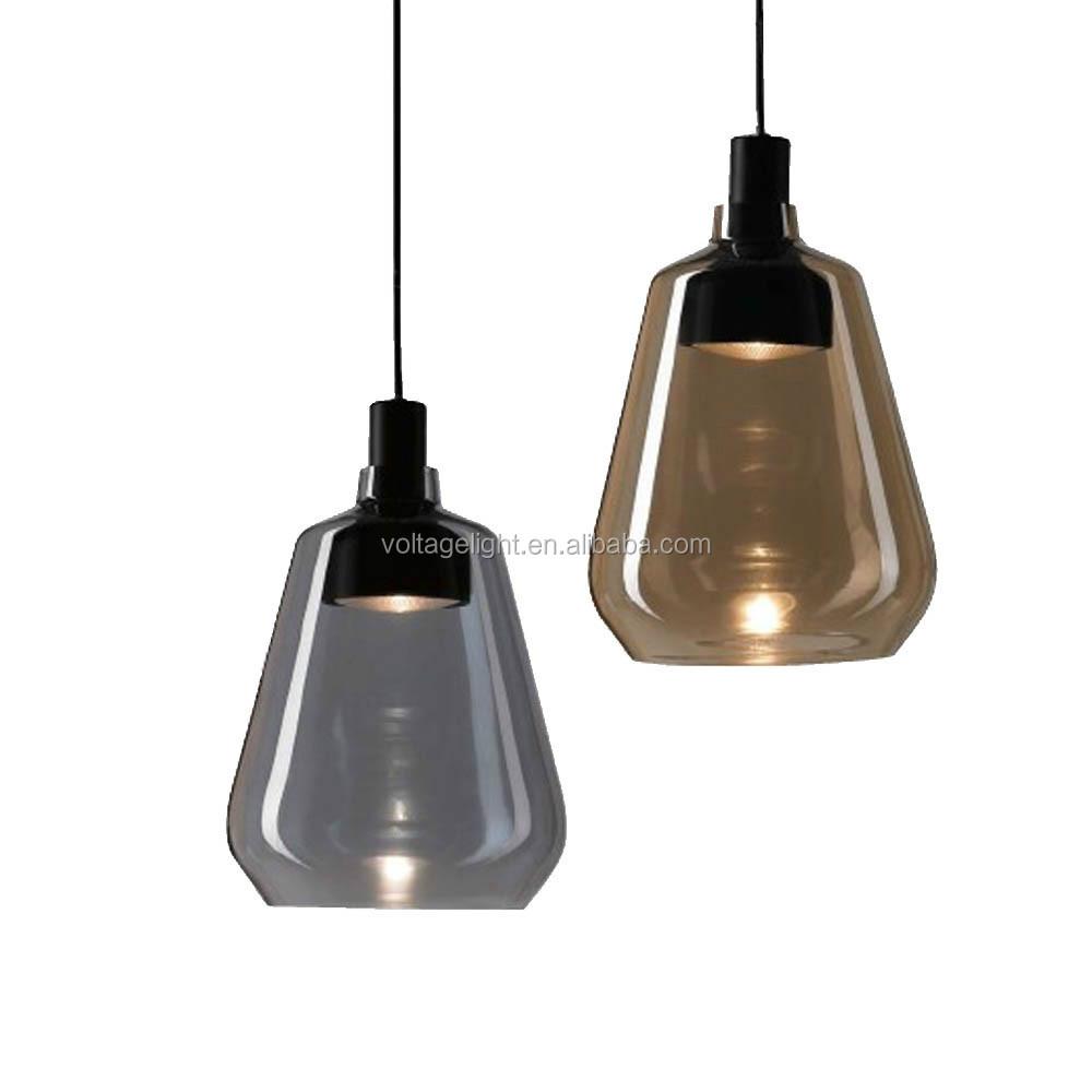 Hot Decorative Simple Amber Smoke Glass Pendant Lighting Modern Fancy Light On Alibaba Com