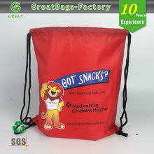 Bulk cheap custom silk printing promotional drawstring bags