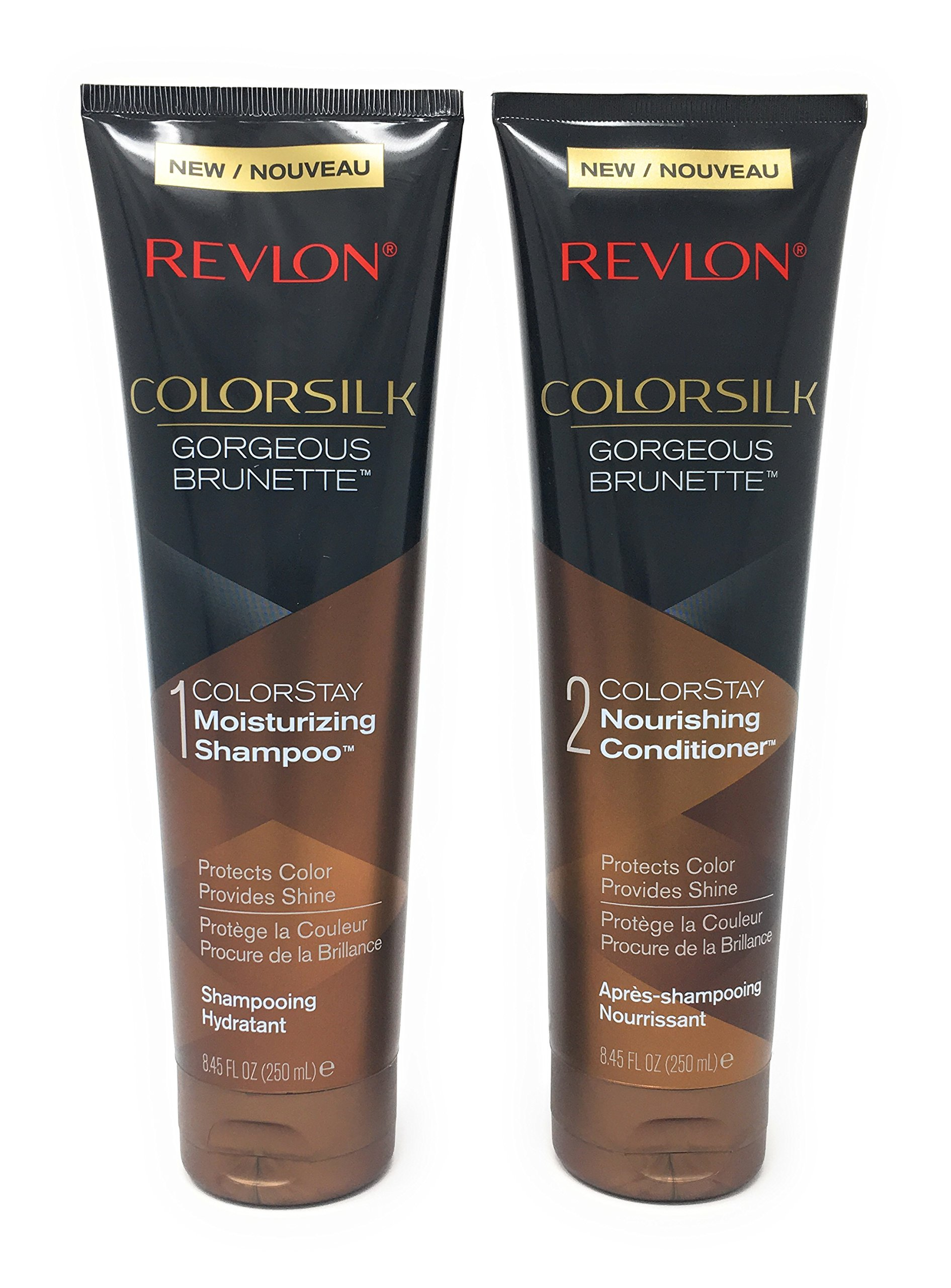 Get Quotations Revlon Colorsilk Colorstay Moisturizing Shampoo And Conditioner Set Gorgeous Brunette 8 45 Fl Oz Each
