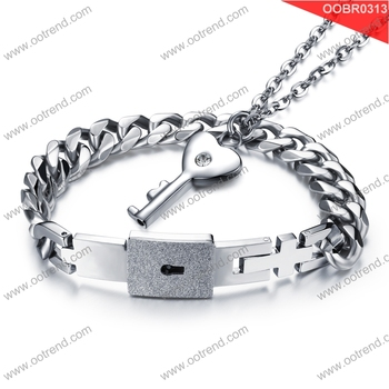 Heart locket design lover stainless steel bracelets