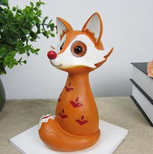 Cartoon character figurines,fox statues for home, desk animal decoration