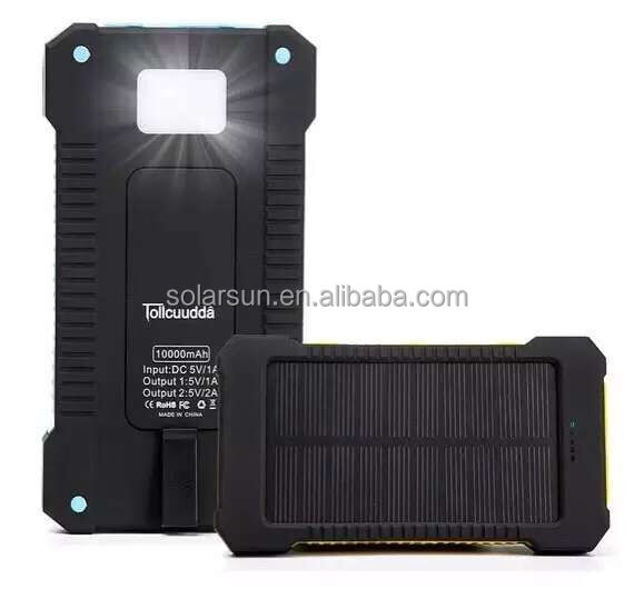 Free samples Large capacity 20000mah solar power bank for smartphone