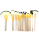 Off-white fondation cosmetic tool Pro 18 pcs makeup brushes set