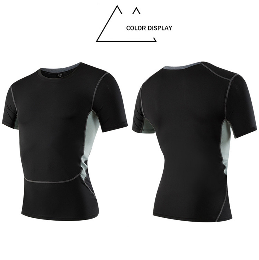 Mannen Generatie III Pro Sneldrogende Workout Korte Mouw Gym Running Yoga Compressie Baselayer Fitness Oefening T-shirts MK333