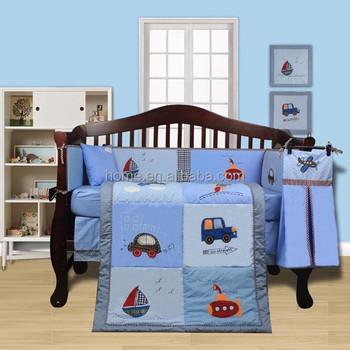 Neues Produkt 100 Baumwolle Baby Boy Blauen Auto Bettwäsche Set
