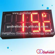 led counter outdoor advertising digital display screens mechanical rotation counter