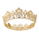 00352 Xuping Luxury 24k gold plated pearl crowns and tiaras wedding for adults