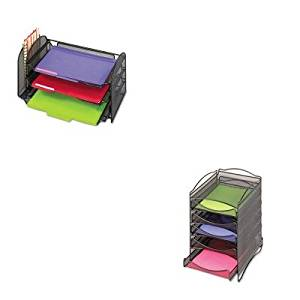 KITSAF3265BLSAF9432BL - Value Kit - Safco Onyx Stackable Literature Organizer (SAF9432BL) and Safco Mesh Desk Organizer (SAF3265BL)