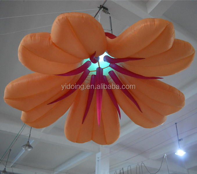 Hot sale <strong>inflatable</strong> LED hang flowers for wedding decoration C2011-3