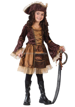 Kids sassy victoriaanse pirate girl halloween kostuums QBC-8914