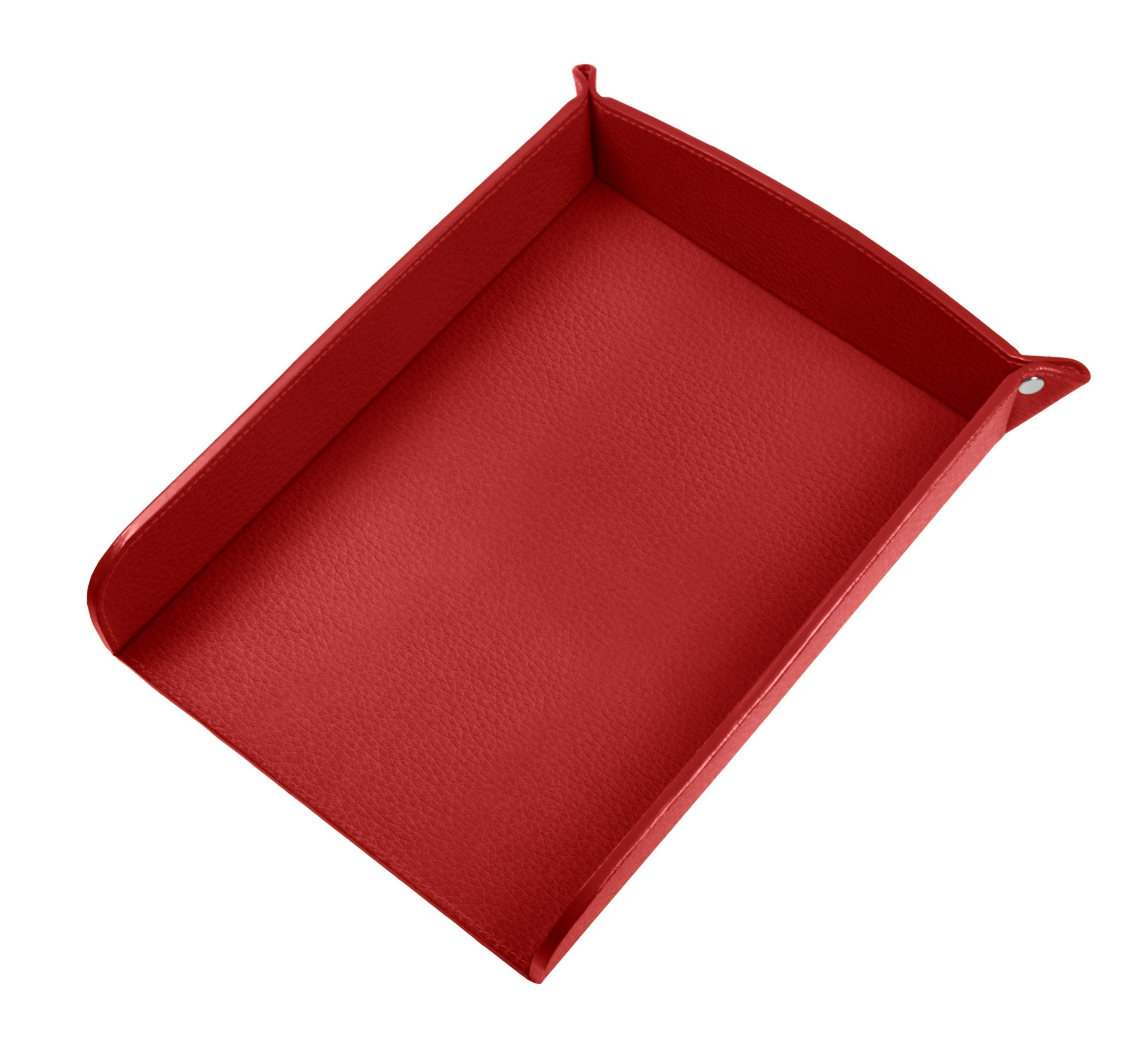 Lucrin USA Inc. A5 Paper Leather Holder, Granulated Cow, Red