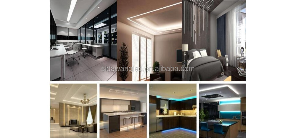 Wall washer mounting led strip light profile square column concave type aluminium profile led wall downward lamps
