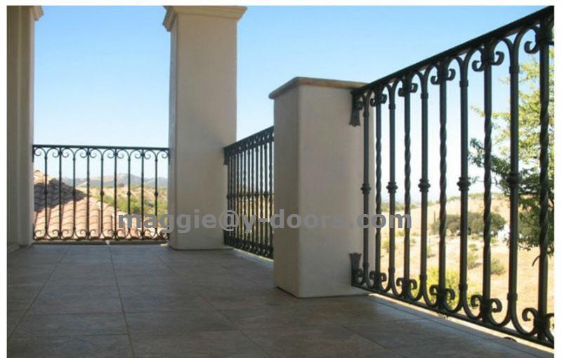 Mordern Wrought Iron Railing Design Balcony Railing For Outdoor