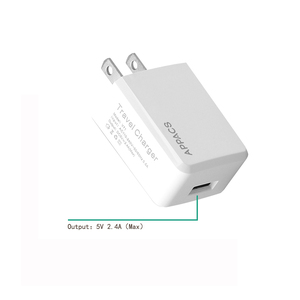 White Fast USB Charger for Samsung 5V 2.4A usb Travel Wall US plUG Charger