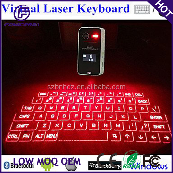 Newest wireless keyboard laser virtual bluetooth