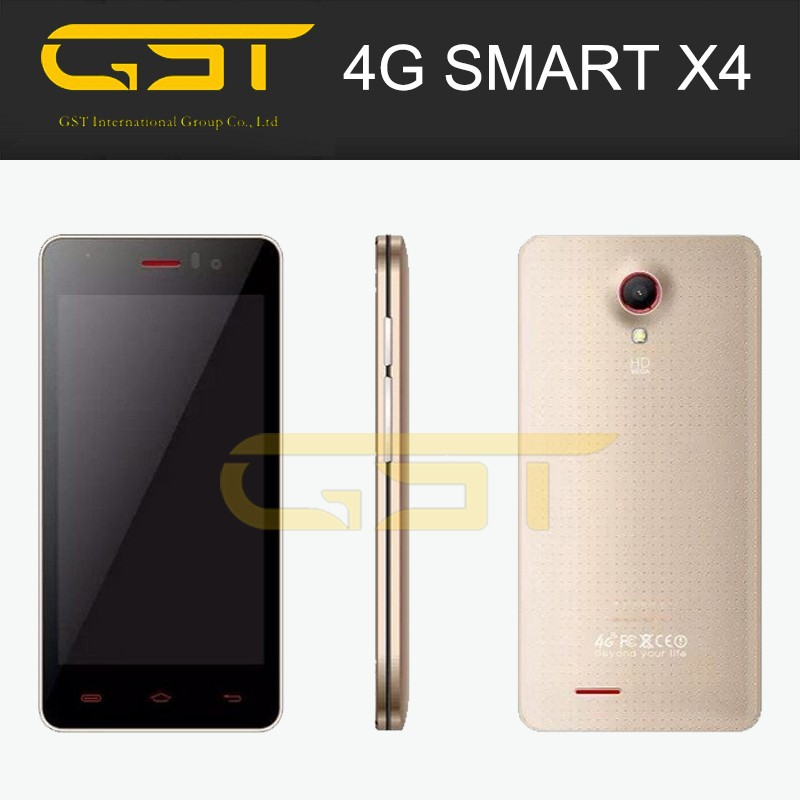 Support Band 3 Band 7 LTE OMES X4 4.5 inch Quad Core Android 4.4 FDD LTE private label 4g smart phone