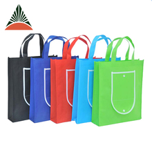 Promotional Collapsible Supermarket Recycle Wholesale Cheap Eco Non Woven Foldable Reusable Shopping Bag