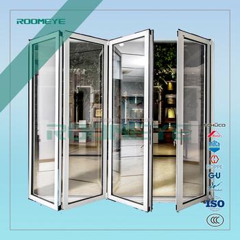 Exterior double glazed aluminium alloy folding doors for for Double glazed french doors for sale
