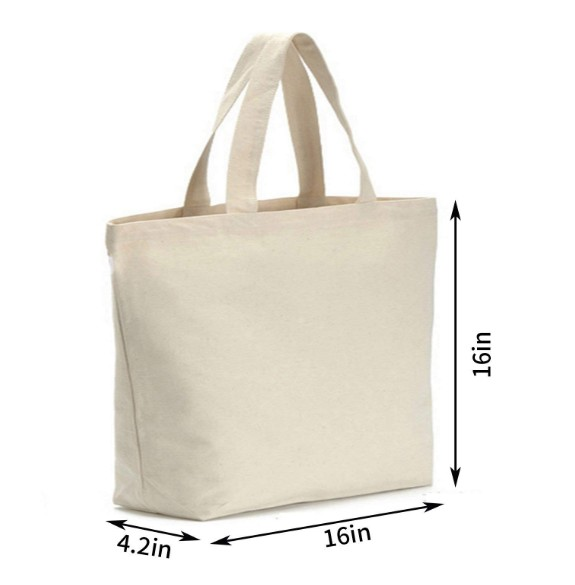 Promo eco friendly reusable canvas tote shopping bags